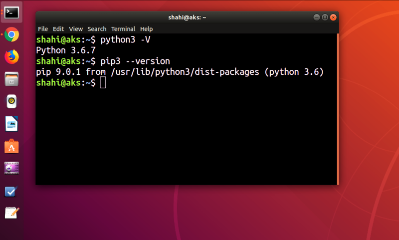 How to install python 3.6.7 and pip on Ubuntu 18.04