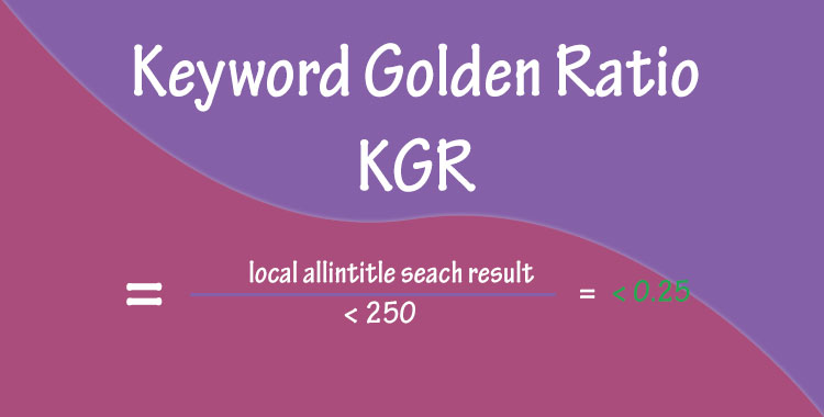 keyword golden ratio kgr