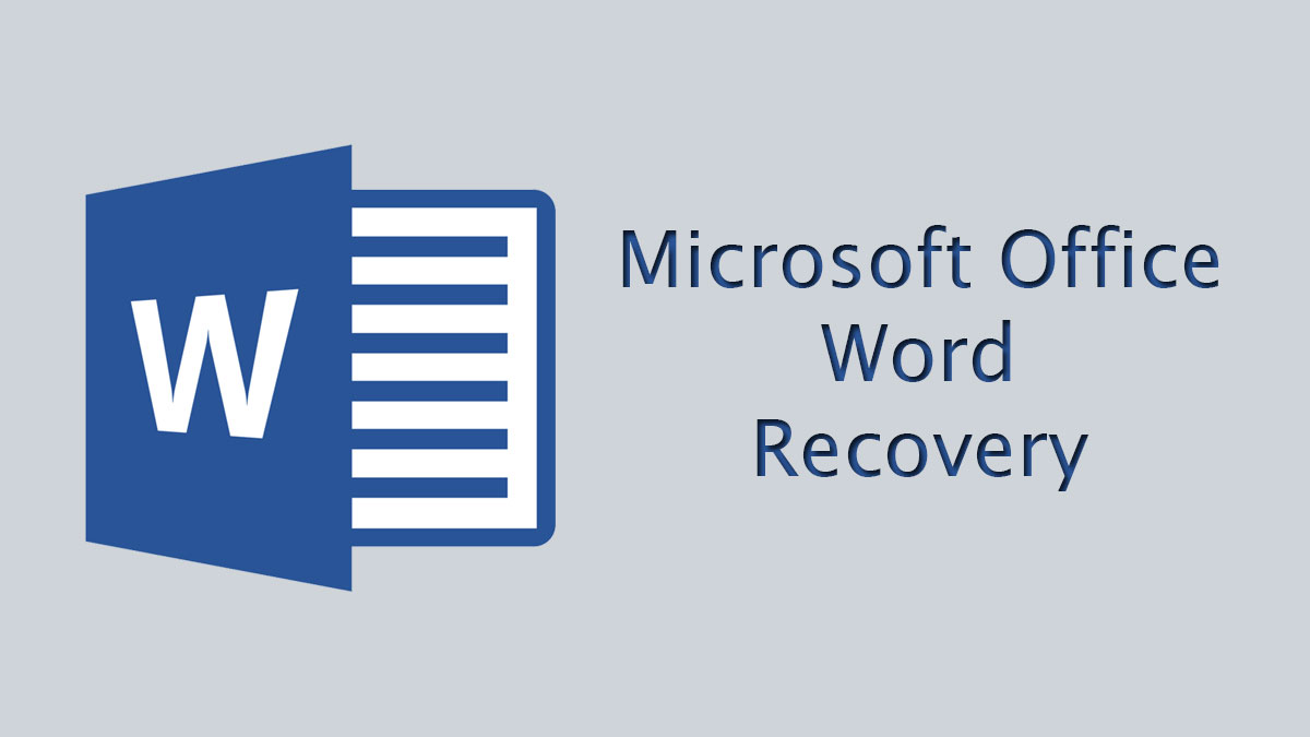 recover ms office word files
