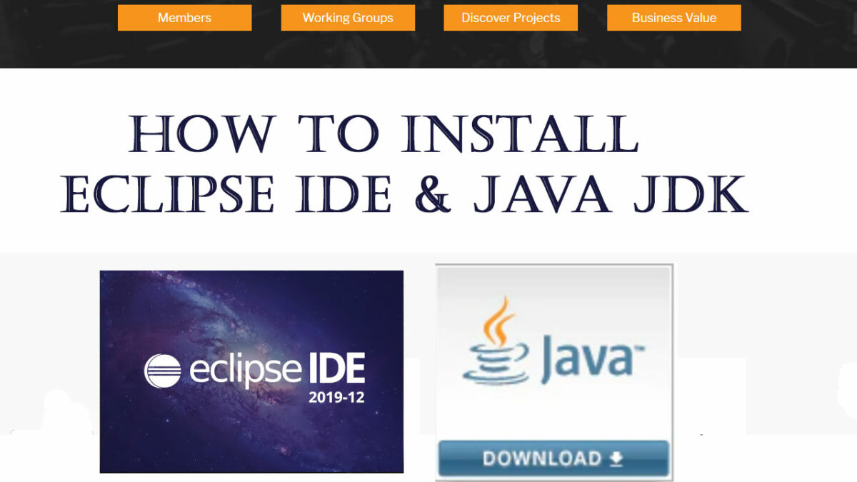 install java jdk and eclipse ide