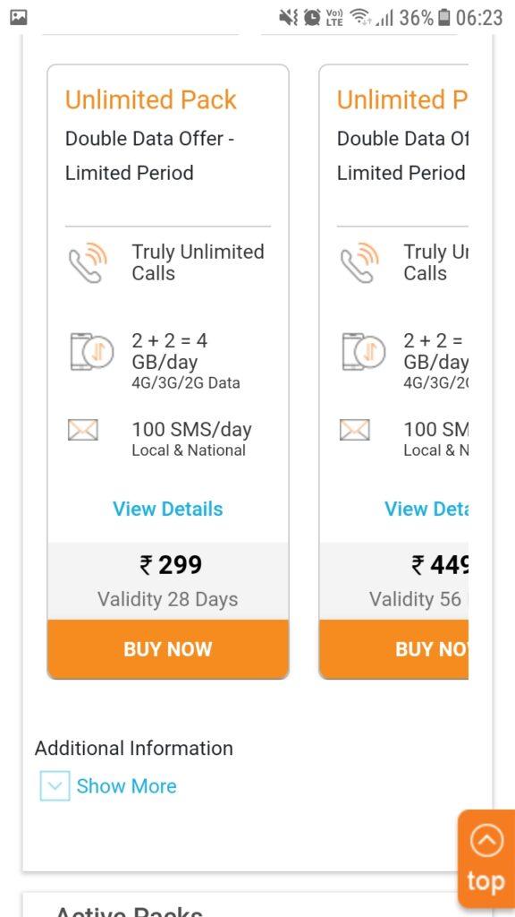 idea prepaid 3gb data 4g plan