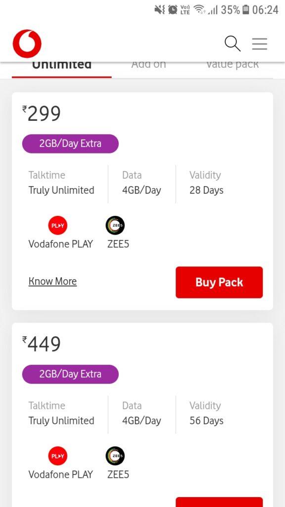 vodafone prepaid 3gb data 4g plan