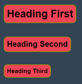 Using CSS codes design HTML pages