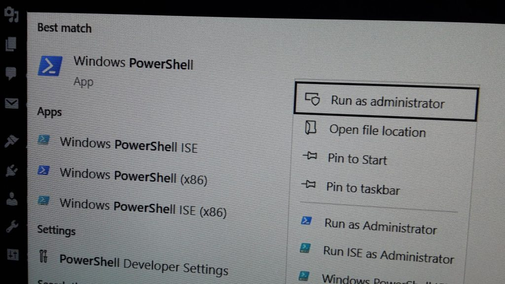 Launch PowerShell with Admin Rights