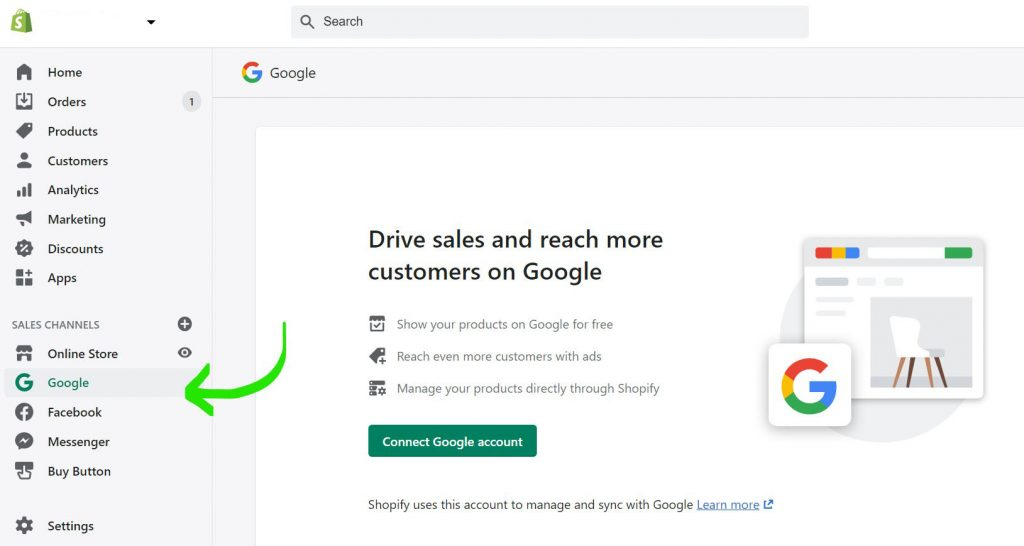 add shopify products to google shopping